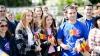 Активисты молодежного крыла ДПМ раздали прохожим тысячу флажков (ФОТО)