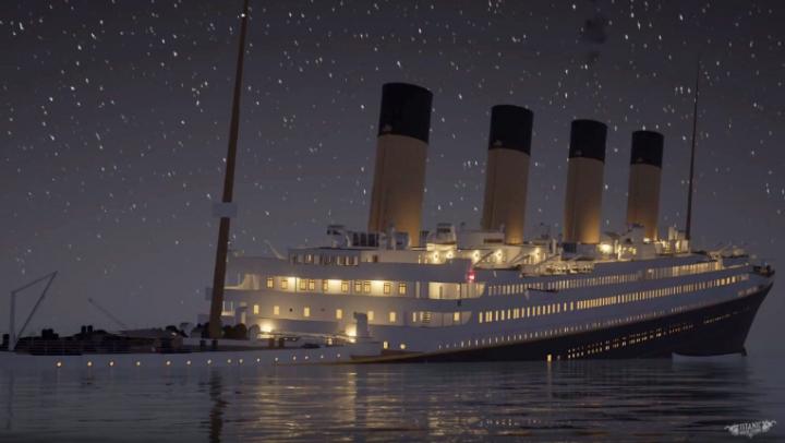 Крушение «Титаника» в режиме реального времени (ВИДЕО)