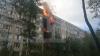 Пять этажей загорелись в жилом доме в Петербурге (ВИДЕО)