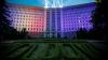 Здание парламента окрасилось в цвета молдавского и европейского флагов