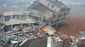 Проливные дожди на юге Китая привели к разрушительным оползням