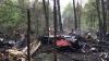 Момент падения самолета Су-27 в Подмосковье (ВИДЕО)