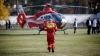 В Бельцах на стадионе приземлился вертолет SMURD (ВИДЕО)