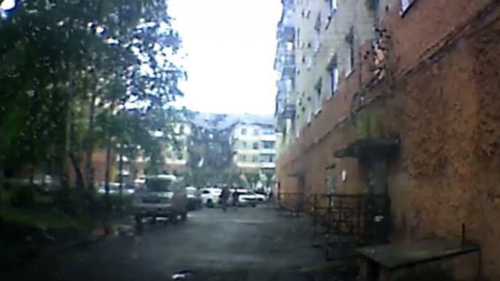 Появилось видео обрушения дома в Междуреченске