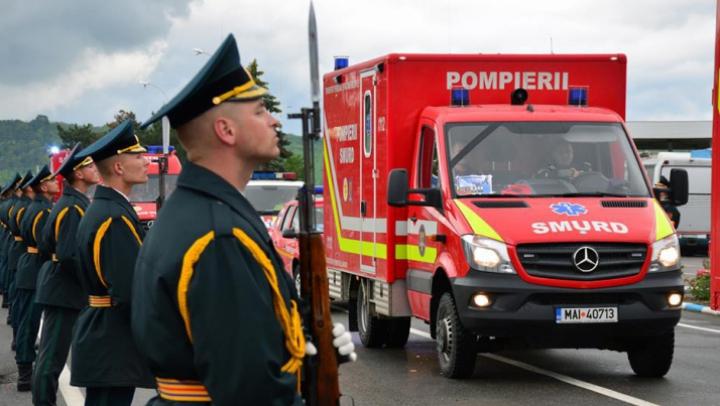 На таможне погибшим героям SMURD воздали последние почести (ФОТО)