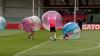 """Футболисты """"Барселоны"""" готовятся к сезону в бамперболах (ВИДЕО)"""