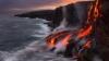 На Гавайи съезжаются туристы, чтобы увидеть, как в океан стекает лава