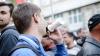Десятки людей пикетировали собрание партии DA в Оргееве