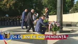 Празднование Дня независимости Молдовы началось с возложения цветов