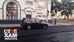 Находчивый водитель решил проехаться по свежеукладенному асфальту