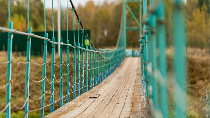 В одном из кишиневских заведений предлагают пройтись по канатному мосту (ФОТО)