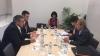 Министр иностранных дел Андрей Галбур встретился с еврокомиссаром Йоханнесом Ханом