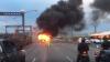 В Австралии пассажирский автобус загорелся на ходу