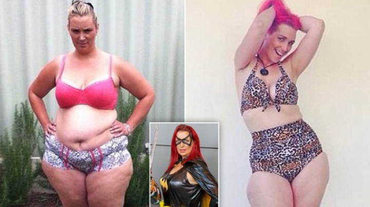 Австралийка похудела на 70 килограммов из-за костюма супергероини