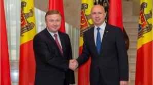 Павел Филип и премьер-министр Беларуси Андрей Кобяков посетили замок Мими