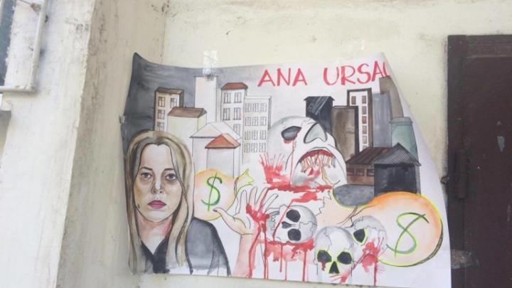 """Перед домом Анны Урсаки появились объявления: """"В этом подъезде живёт убийца!"""""""