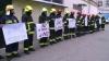 Пожарные провели акцию протеста против осквернения памяти Ивана Ногайлыка ведущими Jurnal TV