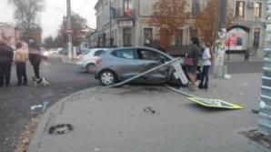 В столице столкнулись два автомобиля