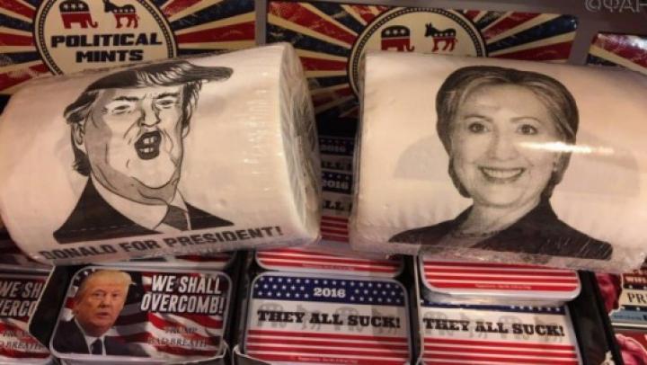 Туалетная бумага с Клинтон обошла по популярности рулоны с Трампом