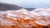 В самой большой пустыне мира Сахаре выпал снег