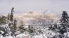 Афины впервые за несколько лет завалило снегом