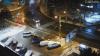 Мороз повалил дорожный знак в Кишиневе