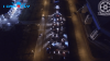 """Калининградцы выстроили """"елку"""" из 94 автомобилей и зажгли на ней """"гирлянду"""""""