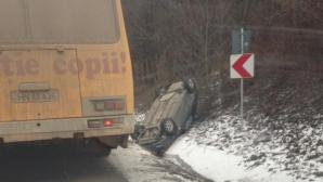 В Хынчештском районе перевернулся автомобиль