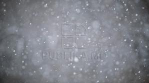 Необычайное трудолюбие: рабочий латает асфальт несмотря на падающий снег