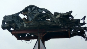 На трассе М2 вблизи Оргеева установили покореженную в аварии машину