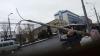 В центре столицы на троллейбусные линии электропередач упал столб