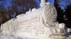 В Ботаническом саду прошёл конкурс по изготовлению скульптур из снега