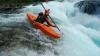 Три спортсмена-экстремала спустились по реке на каяках