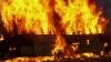 Пассажирский автобус сгорел накануне вечером на трассе Кишинев-Сороки