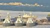 Украинские военные корабли вмёрзли в лёд в Одессе