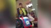 Потерянного Саакашвили сняли на видео в аэропорту Нью-Йорка