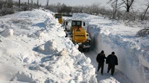 Синоптики Румынии продлили до завтра желтый код опасности в связи со снегопадами