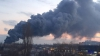 Очевидцы сняли на видео серьезный пожар у вокзала в Симферополе