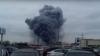 Очевидцы сняли на видео крупный пожар на рынке в подмосковных Мытищах