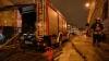 Четыре машины сгорели в Петербурге из-за шлагбаума