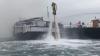 В Дубае с горящего судна спасли четырнадцать человек