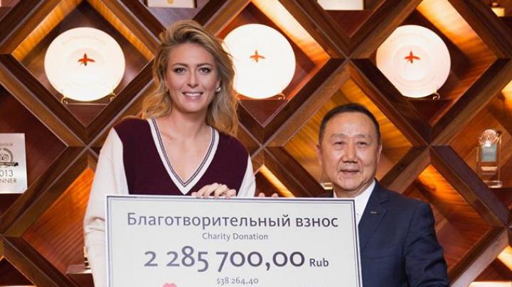 Шарапова пожертвовала несколько миллионов российским детским домам
