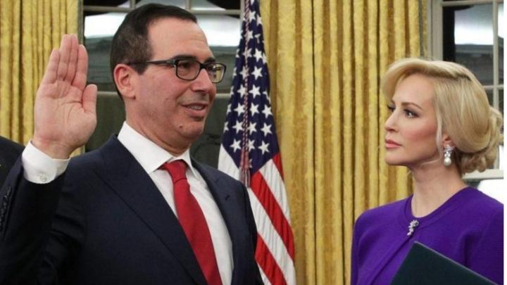 Невеста министра финансов США снялась голой в фильме ужасов