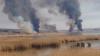 Пожар вблизи данченского леса: видео