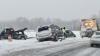 В Чикаго из-за снегопада столкнулись более 30 автомобилей, есть пострадавшие