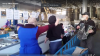 Восьмое марта на центральном рынке отметили зажигательным танцем