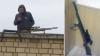 Снайпера с винтовкой сняли с крыши в Красноярске