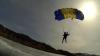 Два парашютиста прыгнули с высоты в прорубь на озере Байкал