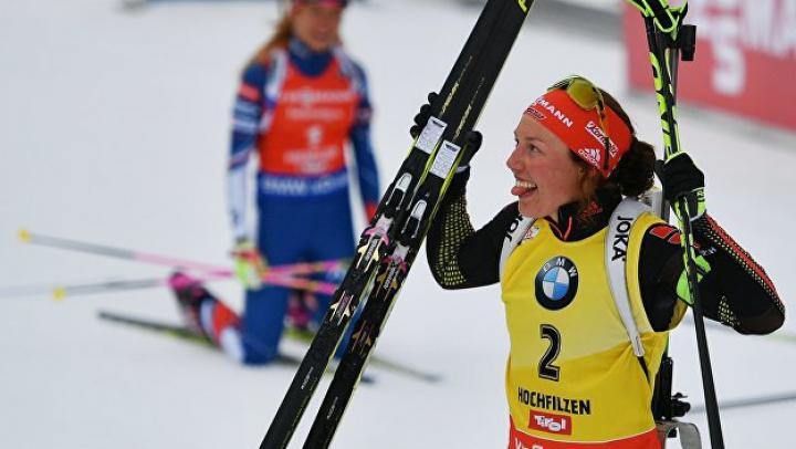 Немецкая биатлонистка Дальмайер досрочно выиграла общий зачет Кубка мира
