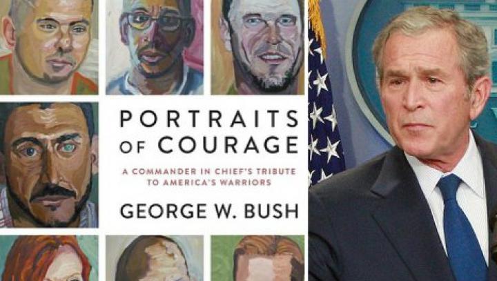 Книга с картинами Буша-младшего стала бестселлером